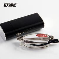 Quality portable resin ultra-light folding reading glasses women's reading glasses male reading glasses