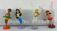 "Free Shipping 4pcs New 2.5"" Small Tinker bell Figure set"