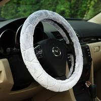Short plush steering wheel cover winter car cover steering wheel