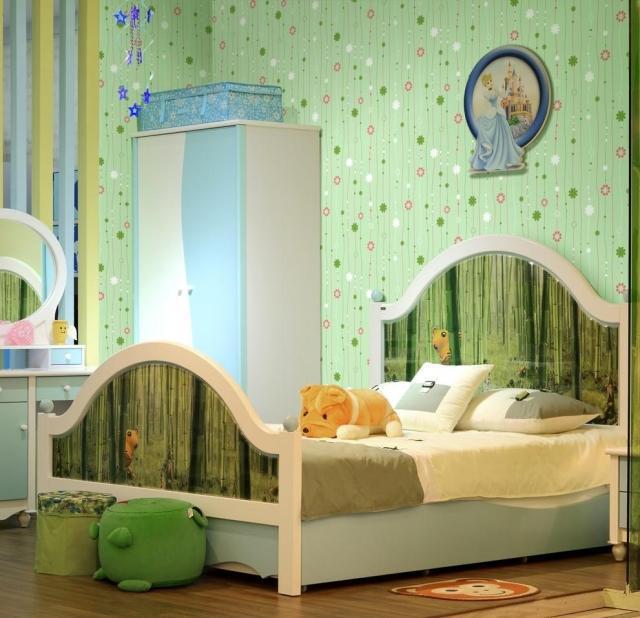 Child Bedroom Wallpaper Girls Room Flower Stripe Wallpaper