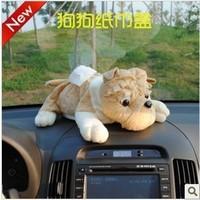 Car dr cartoon dog tissue pumping box pumping household car tissue box car products decoration