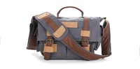 Free shipping & Tracking # New Canvas Leisure Camera Shoulder Bag BBK-2 for Canon Sony Nikon DSLR GRAY