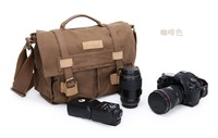 BBK-3 Canvas DSLR Camera Bag Shoulder Messenger Bag For Sony Canon Nikon FREE SHIPPING