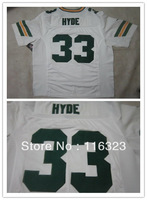 Wholesale-2013 New Style Men's Football Jerseys Micah Hyde #33 Elite Sports Jersey-White,Green,Size:40~56,Free Shipping