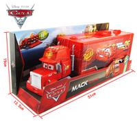 Free Shipping Brand New Pixar Cars 2 Toys Mack Truck Hauler Semi Pixar Trailer Toy In Stock