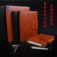 B5 notepad a5 loose-leaf quality commercial faux leather this the memo notebook logo