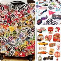 Big measurement notebook luggage travel bag trolley luggage motorcycle doodle waterproof stickers 18