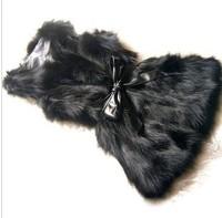 2015 new Fashion Faux fur vest fox fur medium-long vest slim fur coat women winter free shipping