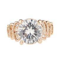 Zirconium diamond 18k thick artificial diamond ring wedding ring
