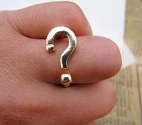 Sunshine jewelry store fashion question ring cuff for women J203 (   $10 free shipping  )