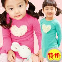 Children clothing wholesale 2014 new autumn girls baby cute love one-piece dress fashion princess dress Free shipping