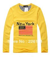 Free shipping 2013 New York couples dress  T-shirt men & women Alphabet printing couple of lovers t-shirt