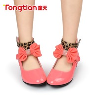 Spring and autumn female ploughboys child bow sweet princess single shoes