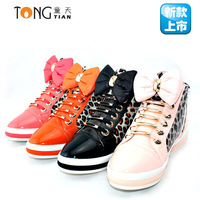 Girls shoes new arrival spring and autumn women's shoes flat casual shoes princess shoes skateboarding shoes