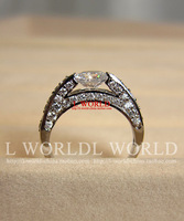 Free shipping Jewelry fashion 1 rhinestone ring Women high artificial
