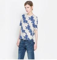 2013 fashion women striped chiffon blouse & shirts