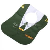 Free Shipping Environmental-friendly Waterproof Green Aircraft Commander Pattern Nursing Saliva Towel Baby Bib