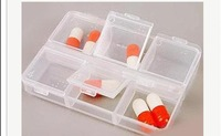 1 PC Empty Pill Medicine Drug Storage Case Box ,Home travel necessary,6 squares