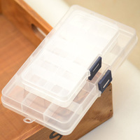 Transparent plastic jewelry box small plaid storage box kit storage box multicellular jewelry box