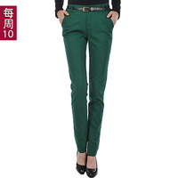 2013 autumn slim suit pants female western-style trousers casual trousers