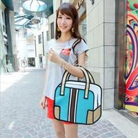 Top cartoons comic bag 3d three-dimensional bag women's casual handbag joy vintage bag online