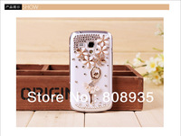 Free shipping MQQ:1PCS Luxury 3D Ballet Girl Rhinestone Bling Diamond Flower Case Cover for Samsung Galaxy S7562 S Duos