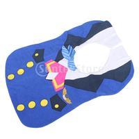 Free Shipping Environmental-friendly Waterproof Blue Stewardess Nursing Saliva Towel Baby Bib