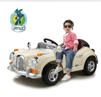 Child electric bicycle stroller four wheel double remote control electric car classic car baby toy car