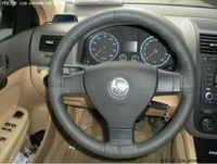 Genuine Leather Steering Wheel Cover With Needles+Thread DIY By Yourself Gray free shipping