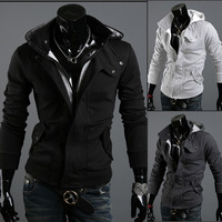 2013 New Autumn Winter Brand Hoodies For Men Plus Size Casual Fashion Grey Black Sport Sweatshirts Mens Clothing