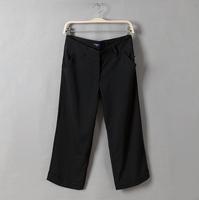 4XL waist 94 hip 122cm 120cm plus size clothing mid waist knee length straight pants trousers female casual wide leg pants