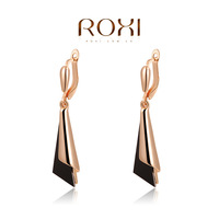 Hot sale ROXI Brand charming rose gold plated fashion earrings for women gold channel earrings fashion jewelrys