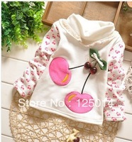 2013 new winter girls fashion flower pattern thickening primer shirt