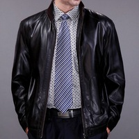 New Fashion Brand Leather Clothing Blazer Suit Jacket Men's Pu Leather Jacket size M-XXXL