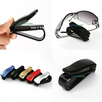 Car Glasses Sunglasses Holder Visor Card Clip black & white Colors Model with glasses clip auto paper folder folder car glasses