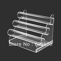 clear acrylic jewelry dispaly rack with 3 floor shelf, acrylic tube jewelry stand