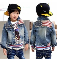 Free Shipping New Kids Clothes Super Cool Boys Classical Jean Tops Coats Jackets Ages3-9Years