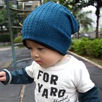 Double faced child twist cap child hat autumn and winter male hat baby twist cap