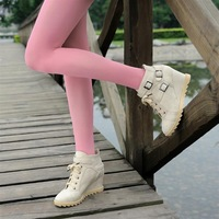 2013 soft leather boots front strap buckle high-heeled wedge boots ankle boots women's boots