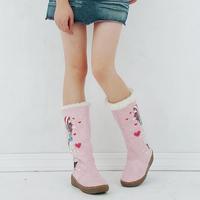 2013 sweet snow boots flat heel flat cartoon two ways medium-leg women's boots
