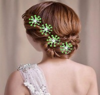 Sample order Fashion new arrival 2013 Free shipping U hair sticks wedding hair accessories bridal F0081