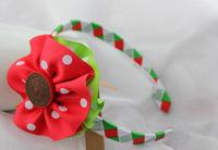 Christmas cute ribbon children hair band, free shipping