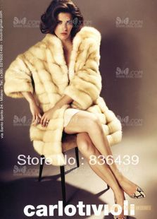 wholesale 2013 EU US star model Hot-selling luxury quality mink fur female medium-long outerwear natural fur coat free shipping