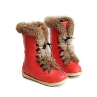 Female shoes 2013 sweet front strap martin boots round toe flat heel cross straps medium-leg boots cotton boots