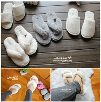 Double at home slippers plush flip flops slippers female cotton-padded absorbent towel
