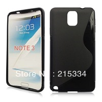 TPU S-Line Case for Samsung Galaxy Note 3 Note III N9000 + Protective film