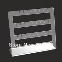 small clear acrylic jewelry display,slant acrylic accessory display rack