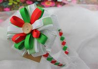 Christmas Ribbon head band for girl ,free shipping