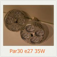 4X cree par30 spotlight 35W 2500lm 85-265V AC e27 Par30 led bulb 8pcs/lot Shipping by DHL Fedex 3-4 days for delivery