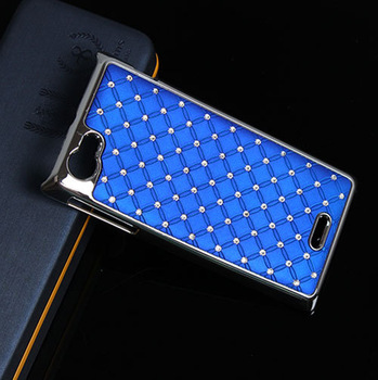 ST26i For Sony Ericsson Xperia J ST26i Bling Rhinestone Diamond fashion  phone Case color Mixed batch Direct Shipping